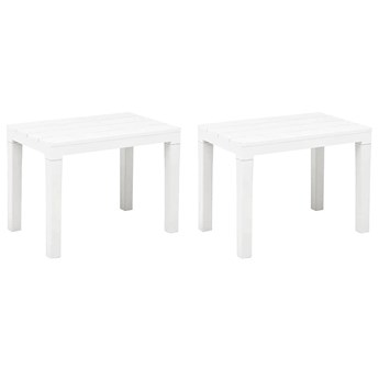 Zestaw białych ławek ogrodowych - Nadeva