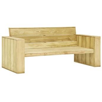 Drewniana ławka ogrodowa - Conal 2X