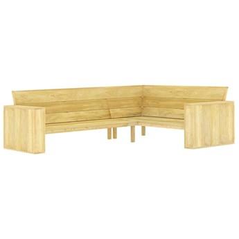 Drewniana narożna ławka ogrodowa - Conal 3X