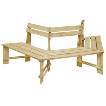 Drewniana ławka pod pień drzewa - Tiffany