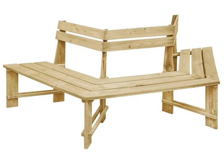 Drewniana ławka pod pień drzewa - Tiffany Drewno Kolor Zielony Kategoria Ławki ogrodowe