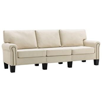 Luksusowa trzyosobowa kremowa sofa - Alaia 3X