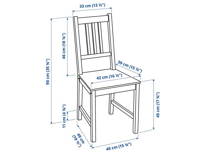 IKEA GAMLARED / STEFAN Stół i 2 krzesła, bejca jasna patyna/brązowoczarny, 85 cm Kolor Brązowy Kategoria Stoły z krzesłami