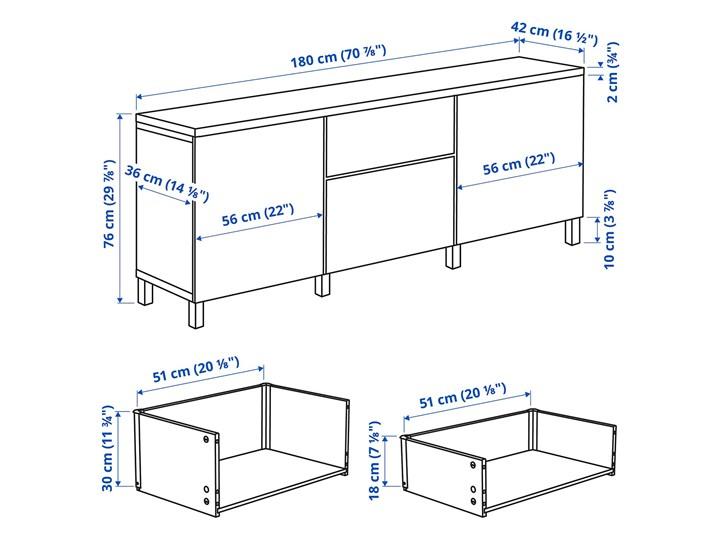 IKEA BESTÅ Kombinacja z szufladami, Czarnybrąz/Lappviken/Stubbarp czarnybrąz, 180x42x76 cm Drewno Płyta MDF Szerokość 180 cm Głębokość 42 cm Kategoria Komody
