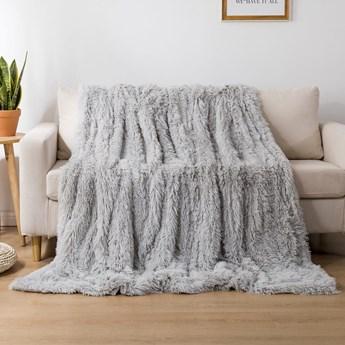 Koc włochacz futrzak 160x200 gruby Cotton World WLN-14 jasny szary | Kup teraz®