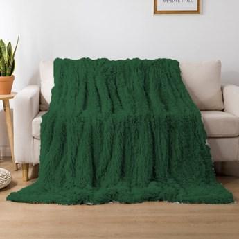 Koc włochacz futrzak 160x200 gruby Cotton World WLN-23 zielony | Kup teraz®