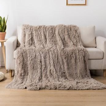 Koc włochacz futrzak 160x200 gruby Cotton World WLN-15 beżowy | Kup teraz®