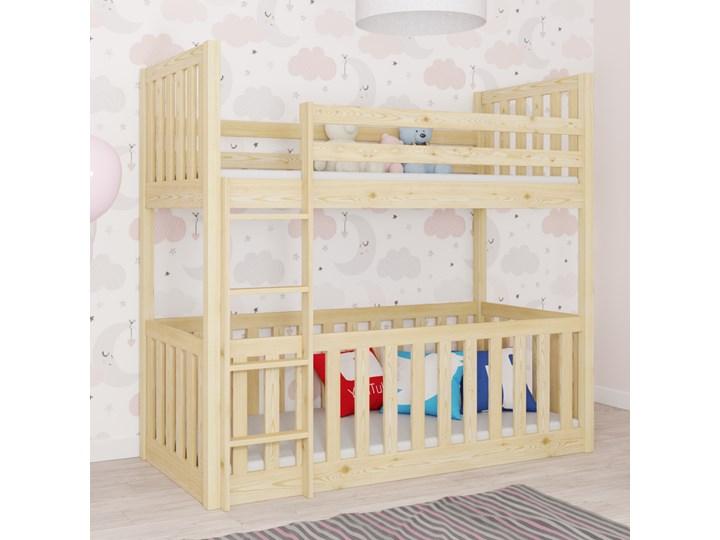 Łóżko piętrowe MIKOLAJ wiele rozmiarów i kolorów Kategoria Łóżka dla dzieci Drewno Kolor Biały