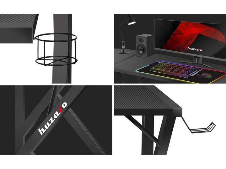 Biurko Gamingowe Huzaro Hero 6.3 Black Szerokość 154 cm Biurko narożne Głębokość 117 cm Biurko z nadstawką Kolor Czarny Stal Pomieszczenie Pokój nastolatka