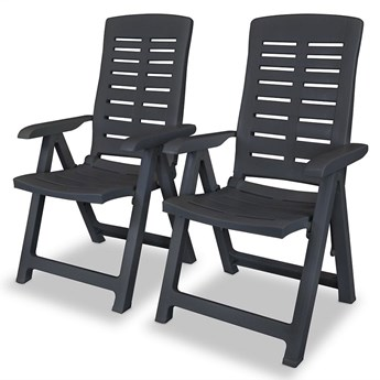 Zestaw szarych krzeseł ogrodowych - Elexio 2Q
