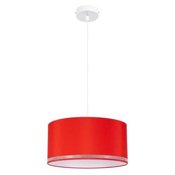 Żyrandol na lince FIELD 1xE27/60W/230V śr. 40 cm czerwony