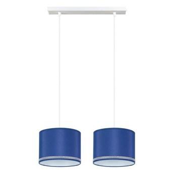 Żyrandol na lince FIELD 2xE27/60W/230V niebieski