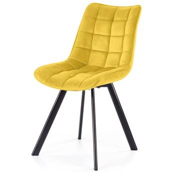 SELSEY Krzesło tapicerowane Derisa żółte