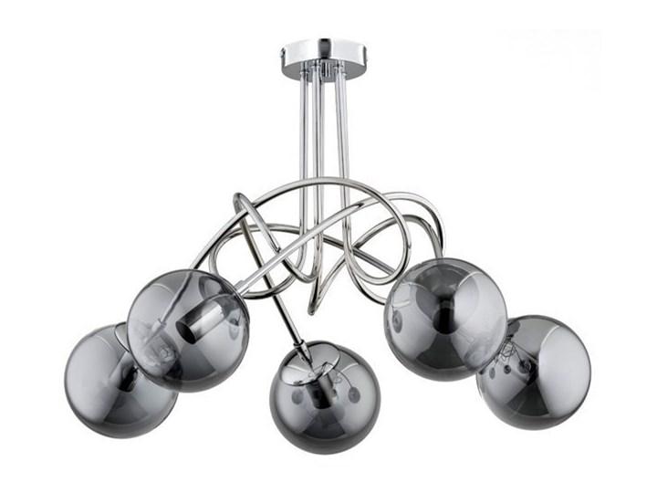 Nowoczesna lampa sufitowa TANGO GLASS OP. OŚW. 5 PŁ Stal Chrom Metal Lampa z kloszem Szkło Funkcje Brak dodatkowych funkcji