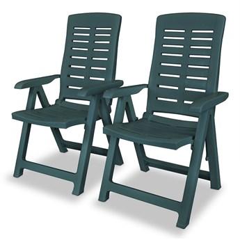 Zestaw zielonych krzeseł ogrodowych - Elexio 2Q