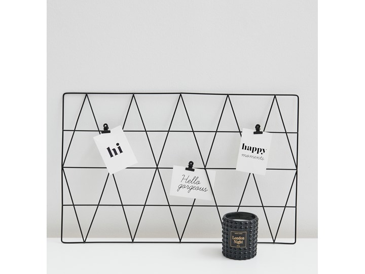 Sinsay - Organizer na ścianę - Czarny Pomieszczenie Salon Stojak na zdjęcia Kolor Biały