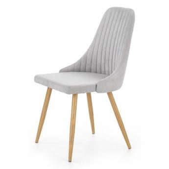 SELSEY Krzesło tapicerowane Muela jasnopopielate
