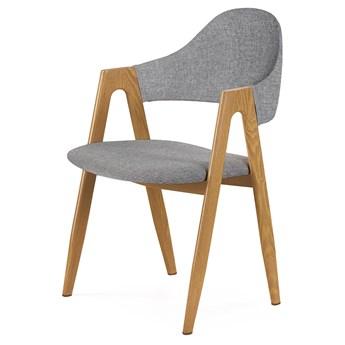 SELSEY Krzesło tapicerowane Sherris szare
