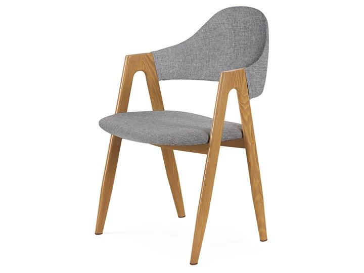 SELSEY Krzesło tapicerowane Sherris szare Drewno Tworzywo sztuczne Tkanina Metal Kategoria Krzesła kuchenne Stal Pomieszczenie Salon