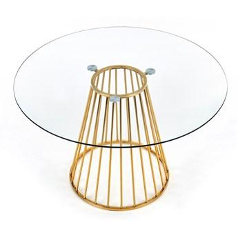 Okrągły stół ze szklanym blatem w stylu glamour Liverpool