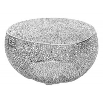 Stolik kawowy Laura srebrny 80 cm Invicta