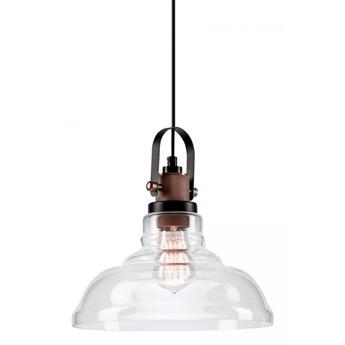 MATEO Lampa wisząca 1-punktowa transparentne szkło/miedź
