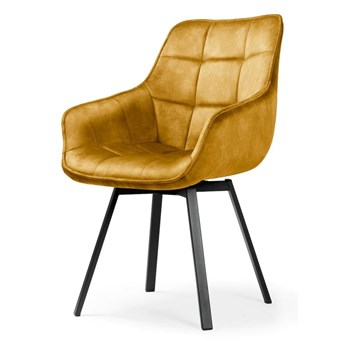 Krzesło obrotowe MORRO musztardowe