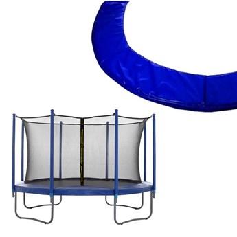 Siatka do trampoliny wewnętrzna z osłoną na sprężyny 244 cm 8 FT 6 słupków niebieska