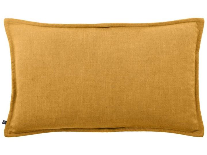 Poszewka dekoracyjna Blok 50x30 cm musztardowa Kategoria Poduszki i poszewki dekoracyjne 30x50 cm Kolor Pomarańczowy