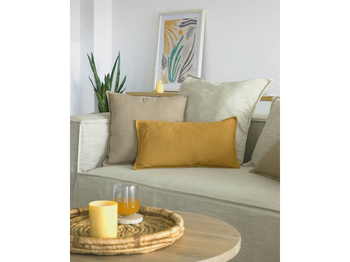 Poszewka dekoracyjna Blok 50x30 cm musztardowa 30x50 cm Kategoria Poduszki i poszewki dekoracyjne Kolor Pomarańczowy