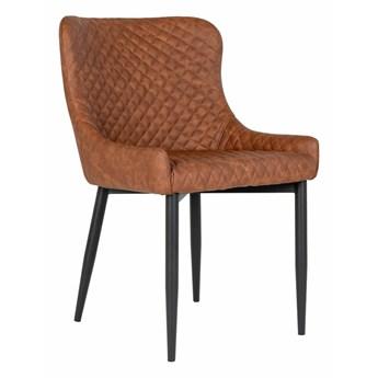 SELSEY Krzesło tapicerowane Balogh brązowe