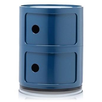 Szafka modułowa dwudrzwiowa Componibili, niebieski, Kartell