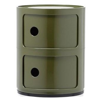 Szafka modułowa dwudrzwiowa Componibili, zielony, Kartell