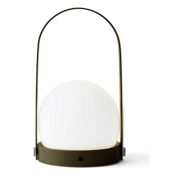 Lampa LED CARRIE na USB, olive, Menu
