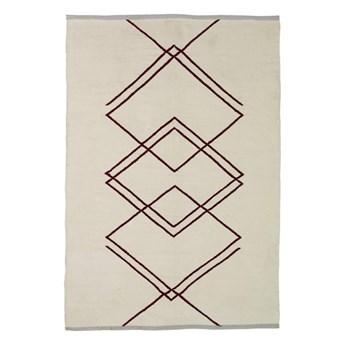 wyplatany dywan w geometryczne wzory, naturalny, Hübsch