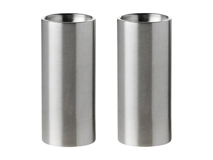 solniczka i pieprzniczka Cylinda srebrne Stelton Stal nierdzewna Kolor Srebrny