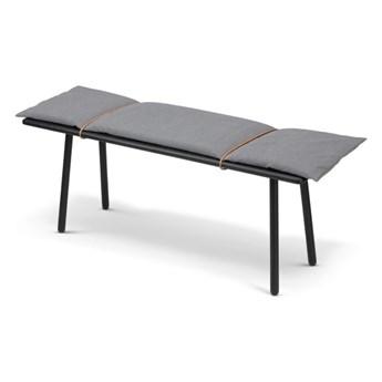 dębowa ławka z poduszką Georg, czarna Skagerak