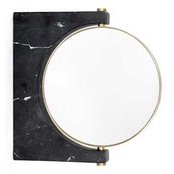 Czarne lusterko do makijażu ścienne Pepe Menu