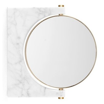 Białe lusterko do makijażu ścienne Pepe Menu
