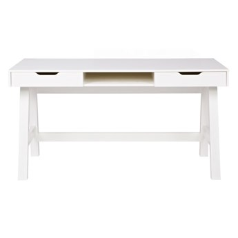 drewniane biurko Nikki, białe, Woood