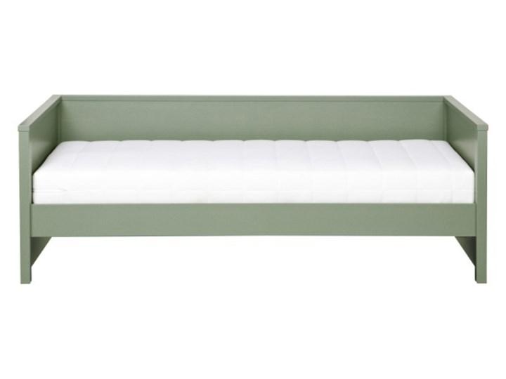 łóżko z oparciem Nikki, zielone, Woood Drewno Kolor Zielony Kategoria Łóżka dla dzieci