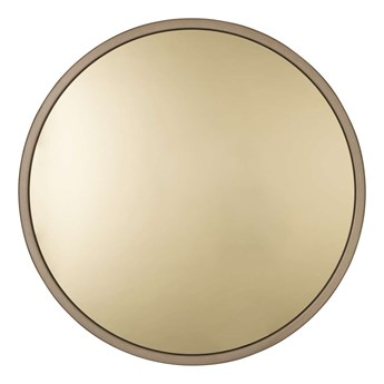 złote lustro w stalowej ramie Bandit, Ø60 cm, Zuiver