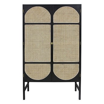 retro szafa z półkami, czarna, HK Living
