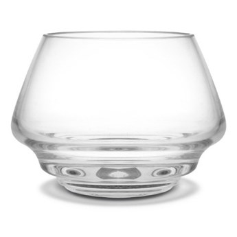 szklany świecznik Flow, Ø10 cm przezroczysty, Holmegaard