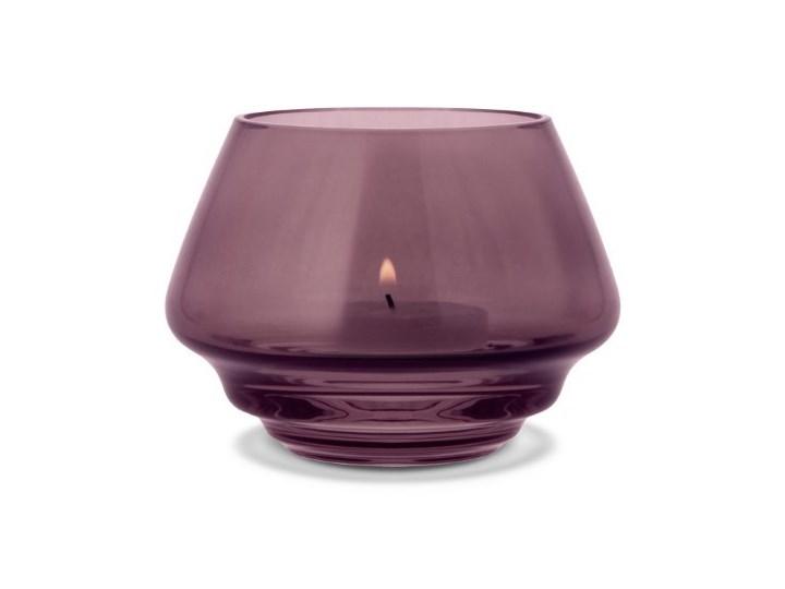 szklany świecznik Flow, Ø10 cm śliwkowy, Holmegaard Szkło Kategoria Świeczniki i świece