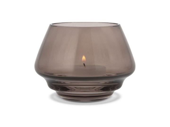szklany świecznik Flow, Ø10 cm przydymiony, Holmegaard Szkło Kategoria Świeczniki i świece