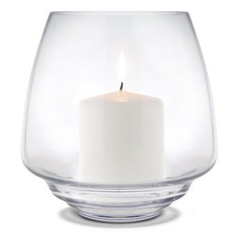szklany świecznik Flow, Ø18,5 cm przezroczysty, Holmegaard