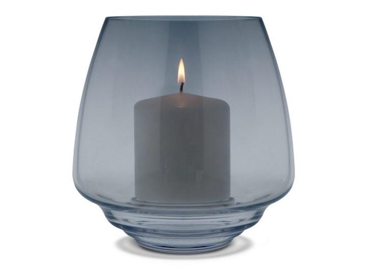 szklany świecznik Flow, Ø18,5 cm niebieski, Holmegaard Szkło Kategoria Świeczniki i świece