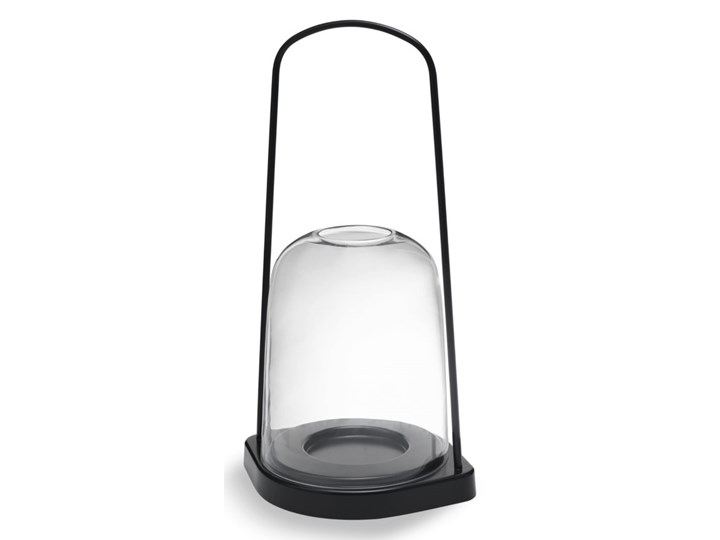 latarenka świecznik Bell, Ø25 cm antracytowy, Skagerak Metal Lampion Stal Szkło Aluminium Kolor Szary