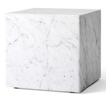 marmurowy postument Plinth Cubic, biały, MENU